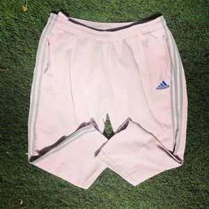 Adidas Grey 3 Stripes Light Pink Track Pants